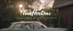 End Screen of tim Hortons Commercial