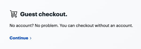 Guest Checkout Button